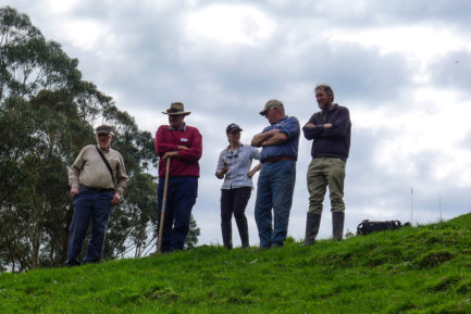 Field Day Participants Looking At GGE Habitat